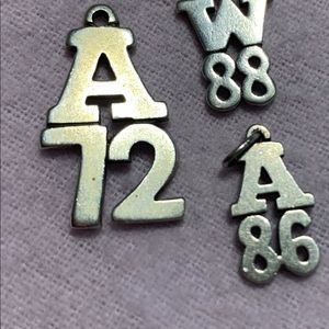 James Avery Sterling Camp Charms A72A86W88